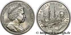 ISOLE VERGINI BRITANNICHE 1 Dollar Proof Sir Francis Drake 2004 Pobjoy Mint