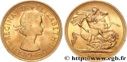 INVESTMENT GOLD 1 Souverain Élisabeth II 1957 Londres