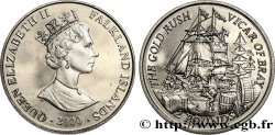 FALKLANDINSELN 2 Pounds Proof Ruée vers l'or - le voilier Vicar of Bray 2000 Pobjoy Mint