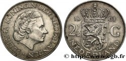 NETHERLANDS 2 1/2 Gulden Juliana 1961 Utrecht