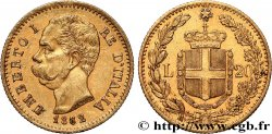 INVESTMENT GOLD 20 Lire Umberto Ier 1882 Rome