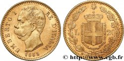 INVESTMENT GOLD 20 Lire Umberto Ier 1883 Rome - R