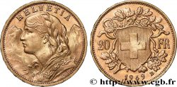 INVESTMENT GOLD 20 Francs or  Vreneli  1949 Berne