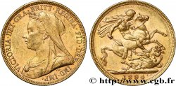 INVESTMENT GOLD 1 Souverain Victoria type vieille tête 1894 Londres