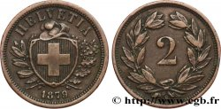 SWITZERLAND 2 Centimes (Rappen) 1879 Berne