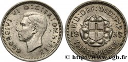 UNITED KINGDOM 3 Pence Georges VI 1938