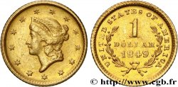 UNITED STATES OF AMERICA 1 Dollar Or  Liberty head , 1er type 1849 Philadelphie