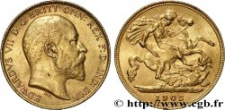INVESTMENT GOLD 1/2 Souverain Edouard VII / St Georges terrassant le dragon 1902 Londres