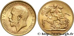 INVESTMENT GOLD 1 Souverain Georges V 1918 Bombay