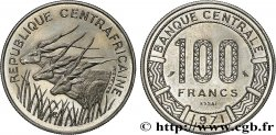 CENTRAL AFRICAN REPUBLIC Essai de 100 Francs 1971 Paris