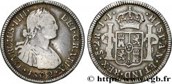 CHILE 2 Reales Charles IV 1802 Santiago du Chili