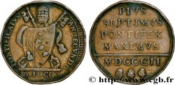 VATICAN AND PAPAL STATES 1 Baiocco Pie VII an II 1802 Rome