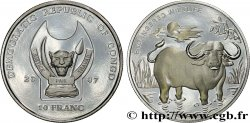 REPUBBLICA DEMOCRATICA DEL CONGO 10 Franc(s) Proof Espèces en danger : buffle 2007
