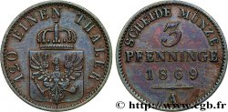 GERMANY - PRUSSIA 3 Pfenninge 1869 Francfort