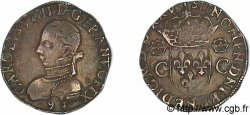 HENRY III. COINAGE AT THE NAME OF CHARLES IX Teston, 2e type 1575 (MDLXXV) Rennes