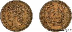 20 lires en or, rameaux courts 1813 Naples VG.2253 VF