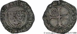 BURGONDY - COINAGE AT THE NAME OF CHARLES VI  THE MAD  OR  THE WELL-BELOVED  Demi-blanc dit  demi-Guénar  18/09/1420 Troyes