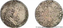RUSSIE - PIERRE II Rouble, groupe VI 1728 Moscou