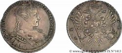RUSSIE - ANNE - COURLANDE Rouble 1734 Moscou