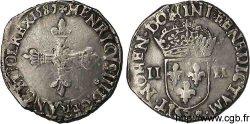 HENRY III Quart décu, croix de face 1587 Rennes