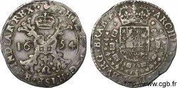 PAYS-BAS ESPAGNOLS - DUCHÉ DE BRABANT - PHILIPPE IV Demi-patagon 1654 Anvers