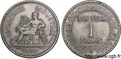 Essai de 1 franc Chambres de Commerce 1920 Paris VG.4938 SUP