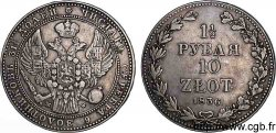 POLAND - KINGDOM OF POLAND - NICHOLAS I 10 zlote ou 1 1/2 rouble 1836 Varsovie