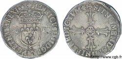 HENRY IV Quart décu, écu de face, 2e type 1605 Aix-en-Provence