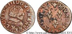 LOUIS XIII LE JUSTE Double tournois, type 12 1637 Bordeaux