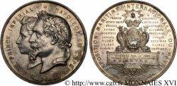 NAPOLÉON IV Médaille de l'exposition maritime internationale du Havre le 1er juin 1868 MBC+