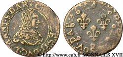 ARDENNES - PRINCIPAUTY OF ARCHES-CHARLEVILLE - CHARLES II OF GONZAGUE Double tournois, légende à douze heures, 1re effigie