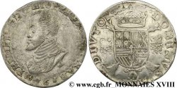 SPANISH LOW COUNTRIES - DUCHY OF BRABANT - PHILIPPE II Écu philippe ou daldre philippus 1561 Anvers SS