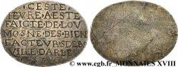 HENRY IV Médaille uniface, Ar 28, pour une messe en Arles VF