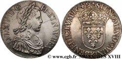 LOUIS XIV LE GRAND OU LE ROI SOLEIL Écu à la mèche longue 1649 Bordeaux