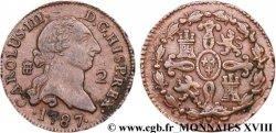 ESPAGNE - ROYAUME DESPAGNE - CHARLES III Double maravédis ou 2 maravedis 1787 Ségovie