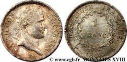1 franc Napoléon Ier tête laurée, République française 1808 Paris F.204/2 SC