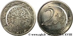 "EUROPEAN CENTRAL BANK 2 euro France, ""Blanche"" 2001 Pessac"
