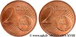 EUROPEAN CENTRAL BANK 2 centimes d'euro, double face commune n.d. Pessac