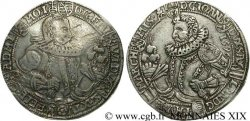 GERMANY - DUCHY OF SAXE-WEIMAR - FREDERICK-WILLIAM I AND JOHN III Thaler 1596  VF/XF