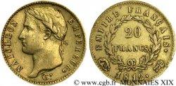 20 francs or Napoléon tête laurée, Empire français 1812 Rome F.516/27 MBC