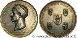 PRIMER IMPERIO Médaille Ar 42, Napoléon roi d'Italie, couronné à Milan