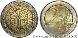 EUROPEAN CENTRAL BANK 2 euro France, frappe fautée 1999 Pessac