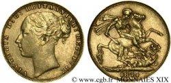 GREAT BRITAIN - VICTORIA Souverain, (sovereign), millésime tréflé 1874 Londres MBC