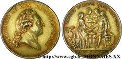 LOUIS XV THE WELL-BELOVED Médaille en vermeil du mariage du Dauphin Louis et de lArchiduchesse Marie-Antoinette AU