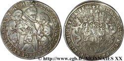 ALLEMAGNE - DUCHÉ DE SAXE-WEIMAR - JEAN-ERNEST IV ET SES SEPT FRÈRES Thaler 1617 Weimar