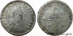 LOUIS XIV THE SUN KING Demi-écu aux huit L, 2e type 1705 Tours