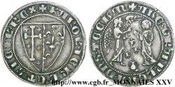 ITALIE - ROYAUME DE NAPLES - CHARLES Ier DANJOU Salut dargent c. 1266-1285 Naples
