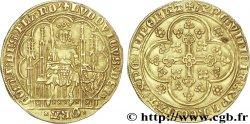 COUNTY OF FLANDRE - LOUIS OF MALE Écu dor au lion c. 1373-1383 Gand ou Malines