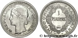 III REPUBLIC - INDOCHINE Essai de 1 piastre en aluminium 1931 Paris MS