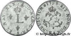 LOUIS XV DIT LE BIEN AIMÉ Double sol de billon 1738 Paris